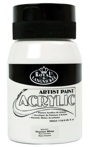 ROYAL LANGNICKEL 500ml ESSENTIALS ACRYLIC PAINT TUBS JARS ALL COLOURS AVAILABLE