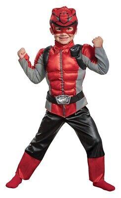Red Power Ranger Beast Costume Child Boys Muscle Halloween