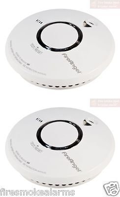 2 x FIREANGEL ST620 Lithium Battery Thermoptek Home Optical Smoke Fire Alarm NEW