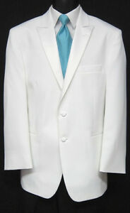 Brand-New-Mens-White-After-Six-Tuxedo-Dinner-Jacket-Wedding-Prom-Quinceanera-40R