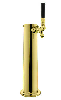 Kegco Dt145-1p 14 Tall Pvd Brass 1-faucet Draft Beer Tower - Standard Faucet
