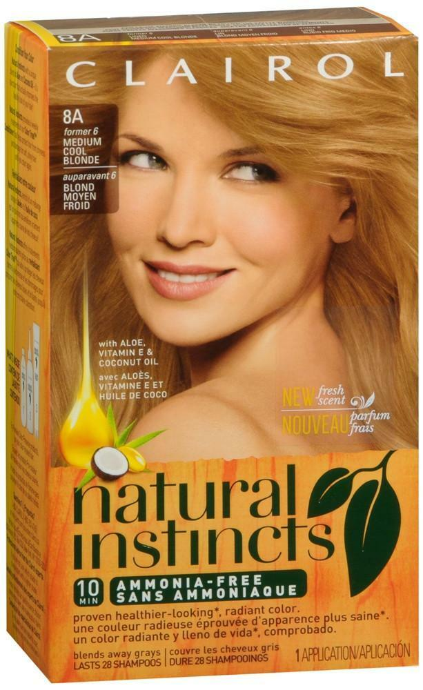 Clairol Natural Instincts Hair Color 8a Former 6 Linen Medium Cool