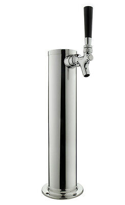 Kegco Dt145-1s-asc 14 Polished Stainless 1-tap Tower - All Stainless Contact