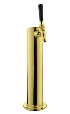 Kegco Dt145-1p-630 14 Pvd Brass 1-faucet Draft Tower - Perlick Faucet