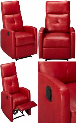 296603 teyana red leather recliner club chair