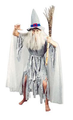 Hexenmeister Catweazle Crazy Ghost Kostüm Hexer Zauberer Gandalf für - Gandalf Kostüm