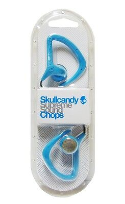 Skullcandy Chops Active Grip Earbuds Hot Blue NEW