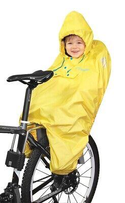FORCE Regen-Poncho für Kinder im Fahrrad Kindersitz Gelb oder Blau /90705 #