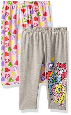 My Little Pony Girls Two Pack Leggings Size 4 5 6 - My Little Pony Leggings