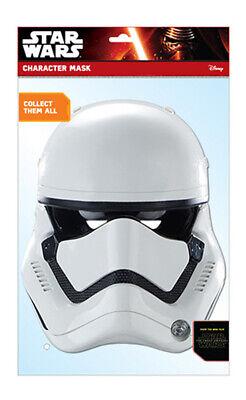 Star Wars EP7 Stormtrooper Papp Maske - Glanzkarton mit Augenlöchern (Storm Trooper Maske)