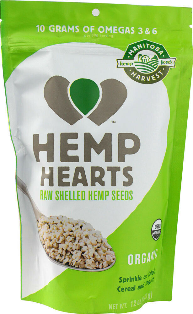 Organic Hemp Hearts Shelled Hemp Seed by Manitoba Harvest, 12 oz