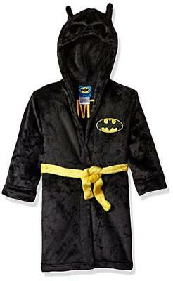 Batman Toddler Boys Black Fleece Robe Size 2T 3T 4T (Boys Black Robe)