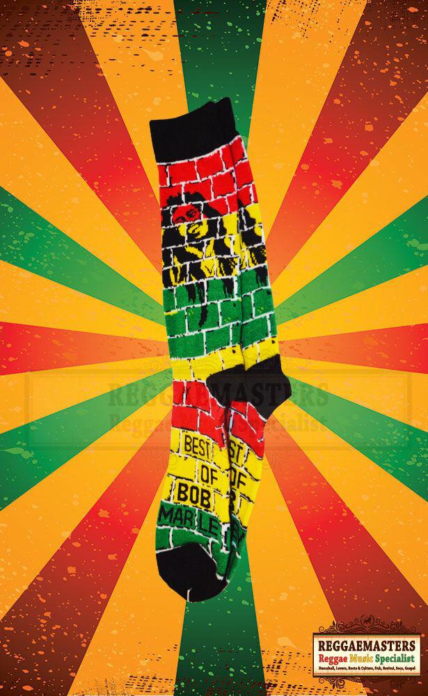 Bob Marley Brick Socks ONE LOVE ROOTS RASTA REGGAE RED GOLD GREEN