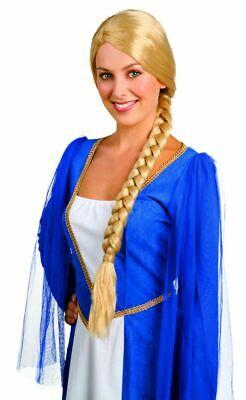 Zopfperücke geflochtener Zopf Lady Catherine blond Langhaar - Lange Geflochtene Perücke Prinzessin