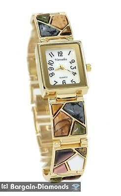 ladies normal stone gold tone designer-period fashion dress watch connect bracelet
