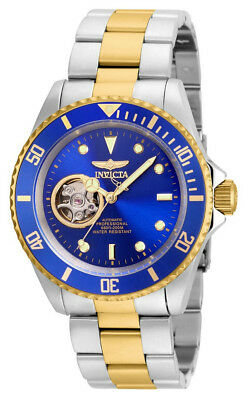 Invicta Pro Diver 21719 Men's Round Blue Gold Tone Automatic Analog Watch