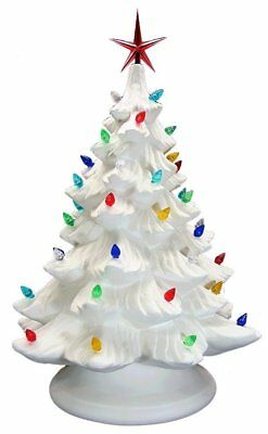 Ready To Paint Ceramic Bisque Christmas Tree & Base, Light Up Included