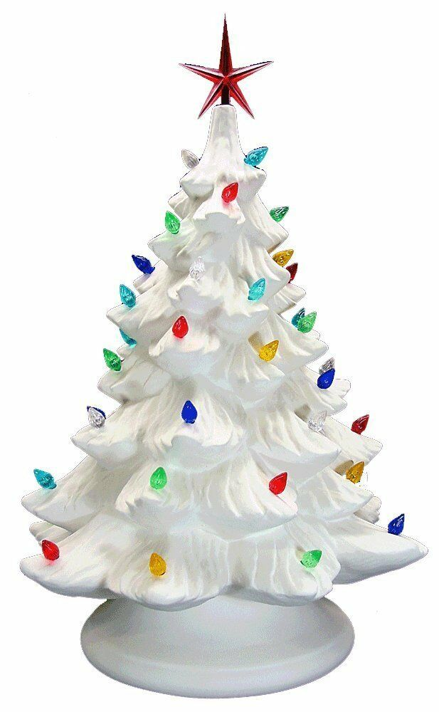 Ready To Paint Ceramic Bisque Christmas Tree & Base, Light Up Included Ceramics & Pottery