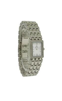 Bulova Crystal 96L157 Women's Roman Rectangular Analog Mother of Pearl Watch