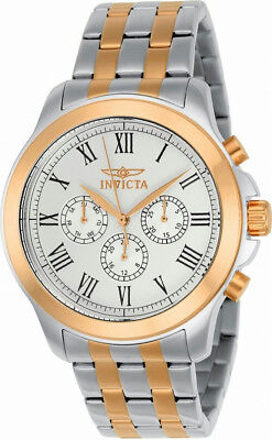 Invicta Specialty 21660 Mens Roman Numeral Day Date 24 Hour Analog Watch