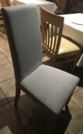 Grey fabric dining chairs for sale, £25 ono