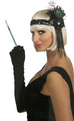 Charleston Kopfschmuck Pfauenfedern Flapper Kostüm-Zubehör 20er Jahre Stirnband