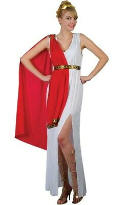 Roman Greek Goddess fancy dress costume Ladies Toga outfit 10 12