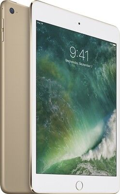 "BRAND NEW Factory Sealed Apple iPad mini 4 128GB Wi-Fi 7.9"" Gold MK9Q2LL/A"
