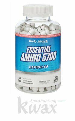 (8,85 Euro/100g) Body Attack Essential Amino 5700 Caps 180 Kapseln online kaufen
