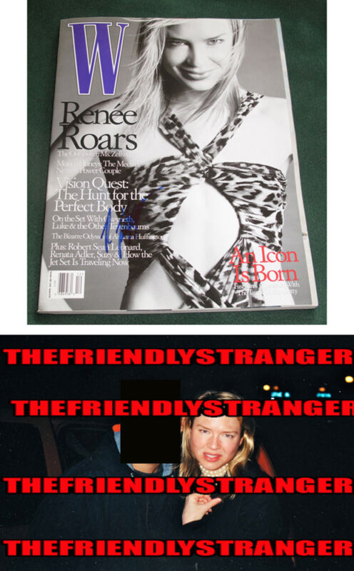 "Rare RENEE ZELLWEGER signed Autographed ""W"" MAGAZINE - PROOF -  Judy COA"