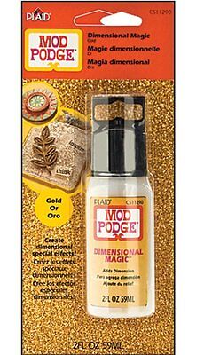 Mod Podge Gold Glitter Dimensional Magic 2fl oz 028995112904