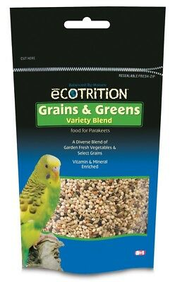 Ecotrition Grains & Greens Variety Blend for Parakeets 8oz Free Shipping
