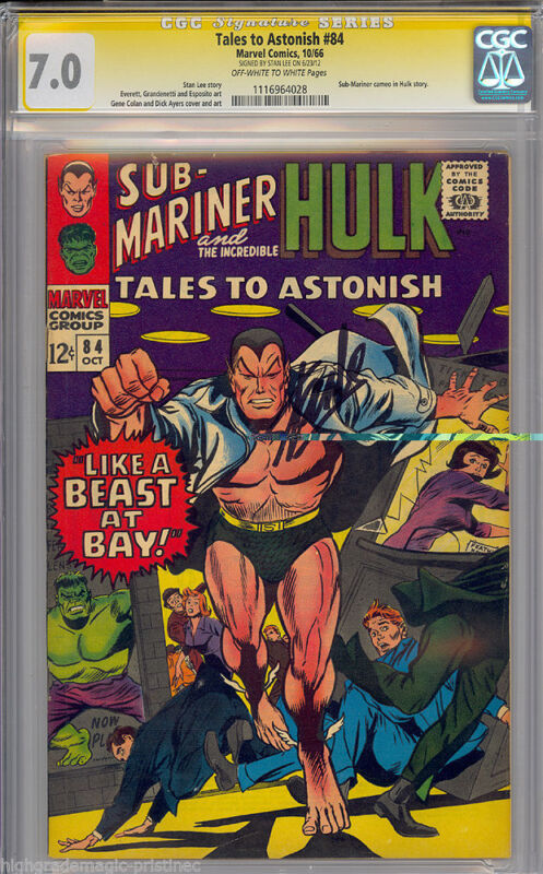 TALES TO ASTONISH #84 CGC 7.0 OWW SS STAN LEE SIGNED SIG SERIES CGC #1115964028