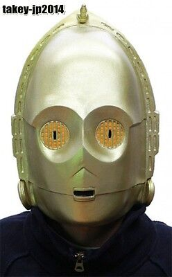 Star Wars C3PO Rubber Mask Cosplay made in Japan  Free Shipping for sale  Shipping to United States
