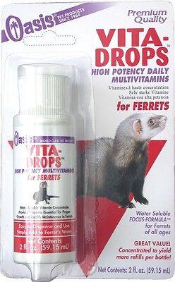 - Oasis Vita-Drops for Ferrets 2oz  Free Shipping