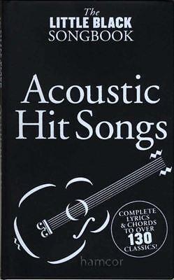 Acoustic Hit Songs The Little Black Songbook Guitar Chords & Lyrics Music Book