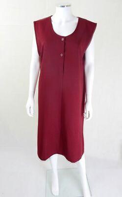 Original Vintage 1960s Wine Shift Dress UK Size 18/20 Plus Size Vintage Clothing