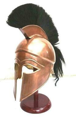 Medieval Greek Spartan Corinthian Helmet with Black Plume Ancient Armour Helmet](Greek Spartan)