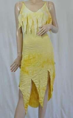 Uncle Sam Partykleid Strandkleid zipfelig Batikoptik gelb / Gr. M / Neu ()