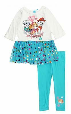 Nickelodeon Girls Paw patrol 2pc Legging Set Size 2T 3T 4T 4