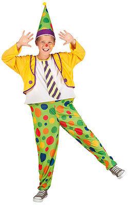 Clown Jumbo Jimbo Kinderkostüm NEU - Jungen Karneval Fasching Verkleidung - Jumbo Clown Kostüm