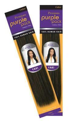 (2 Pack) Outre Premium Purple Pack Human Hair Yaki 16
