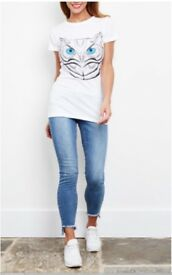Medium White T-shirt with owl design print on front. Brand new sealed in packaging.