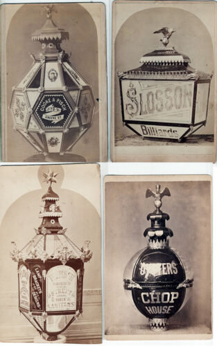 VINTAGE ADVERTISING PHOTO OF GAS LAMPS