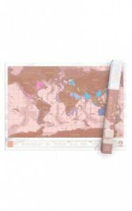 Scratch Map - Rose Gold Edition