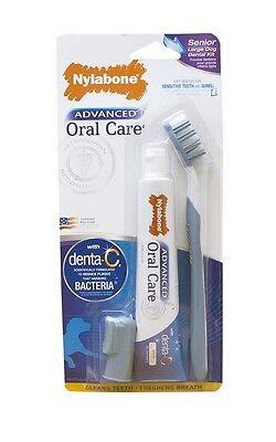 Nylabone Advanced Oral Care Senior Dog Dental Kit Large Dog