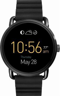 Fossil Q Gen 2 Wander Black Silicone Strap Touchscreen Smart Watch 45Mm Ftw2103