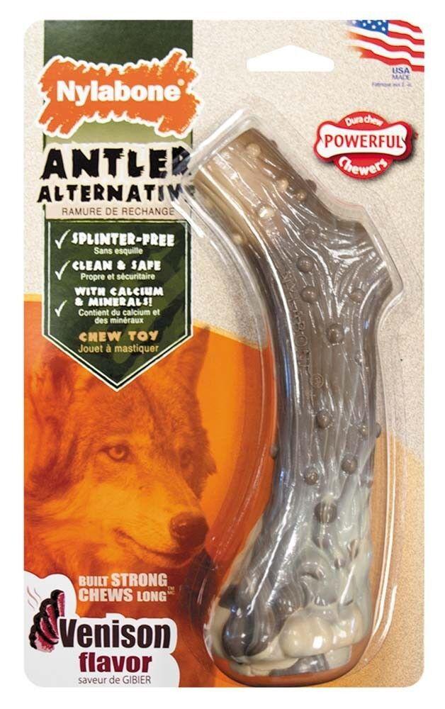 Nylabone Dura Chew Antler Alternative Dog Chew Toy Free Ship