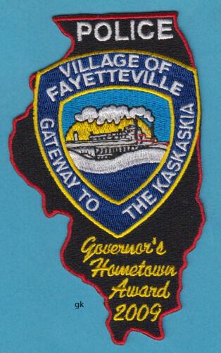 FAYETTEVILLE ILLINOIS POLICE SHOULDER PATCH 2009 STATE SHAPE