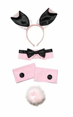 Ladies Pink Bunny Girl Set Playgirl Hen Night Fancy (Pink Bunny Girl Kostüm)